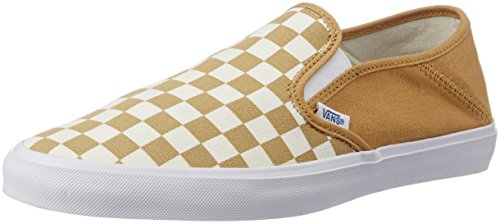 Vans Men's Slip-On Sf Checkerboard and Spruce Yellow Loafers and Moccasins – 7 UK/India (40.5 EU)