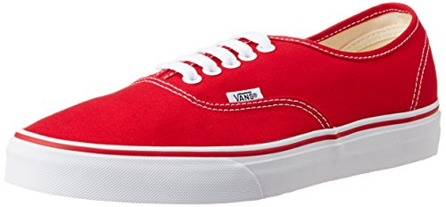 Vans Unisex's Authentic Red Formal Shoes – 7 UK/India (40.5 EU) (VN000EE3RED1)