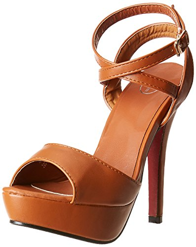 Red Pout Women's Brown Fashion Sandals – 4 UK/India (37 EU)(RPFWBOAW1610)