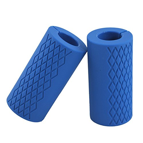 Kobo Thick Bar Grips Turns Barbell, Dumbbell, and Kettlebell Into Kobo Gripz For Fat Bar Training And Muscle Growth. Strengthen Your Forearm, Biceps, Triceps, Chest. For CrossFit, Strongman Bodybuilding