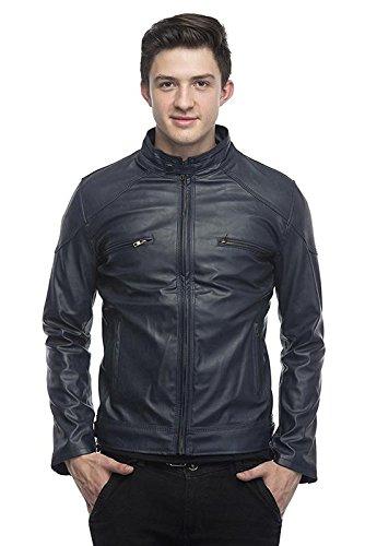 Devil mens Pu Faux Leather Jacket
