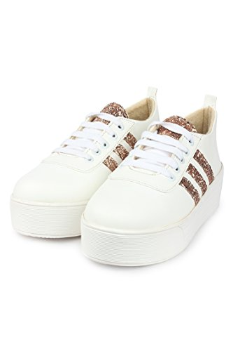 Orysta Stylish Vam Cheeni Sneakers Shoes For Women (Euro39, Copper)