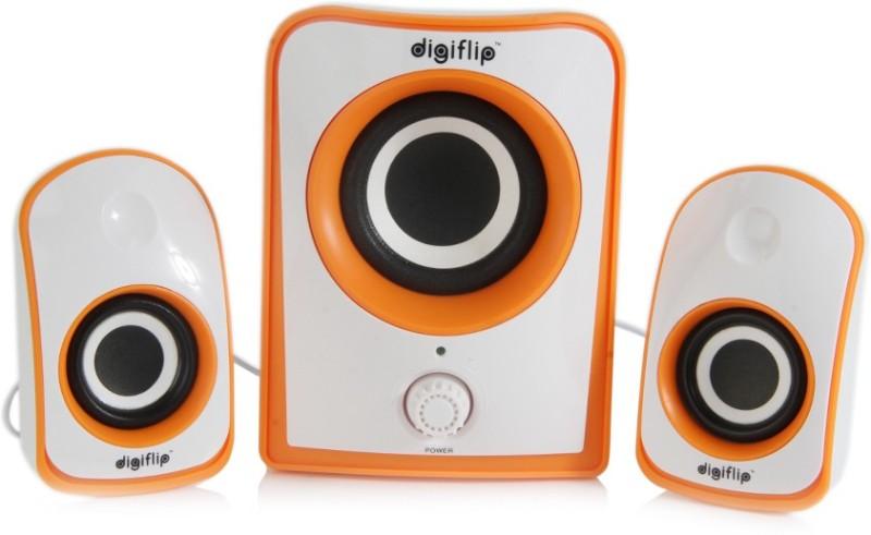 digiflip 21 channel 8w ps042 speaker 800 watt pmpowhite orange 21 -