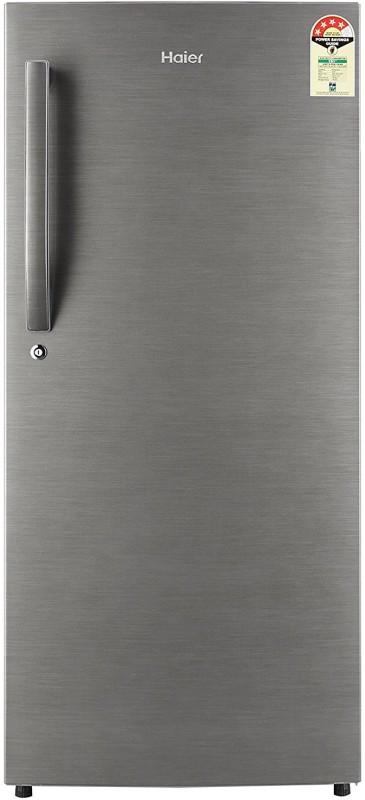 Haier 195 L Direct Cool Single Door Refrigerator(Brushline Silver, HRD-1954BS-R/E)
