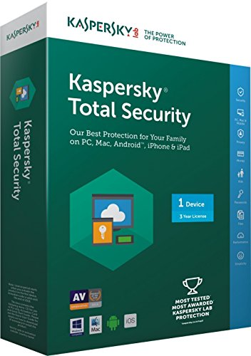 Kaspersky Total Security- 1 User, 3 Years (CD) (Chance to win Rs.1000 Amazon Gift voucher)