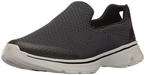 Skechers Performance Men's Go Walk 4 Expert Walking Shoe, Black/Gray, 14 M US