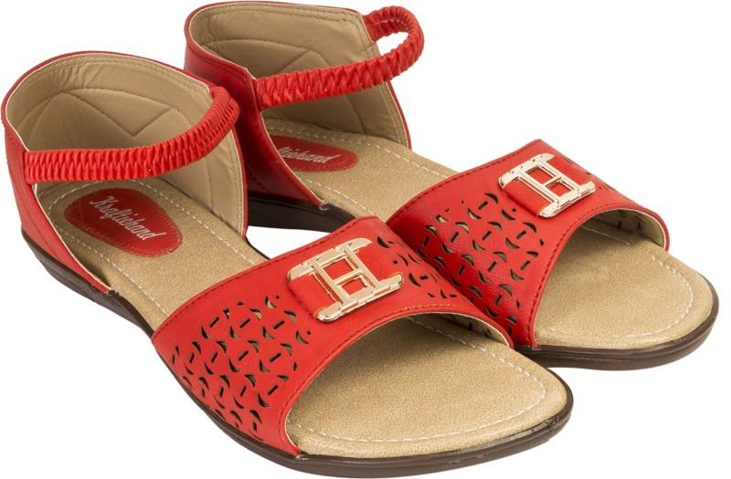 Kraftiehand Women Red Flats