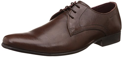 red tape mens brown leather formal shoes 8 uk -