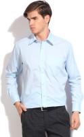raymond mens solid formal blue shirt -