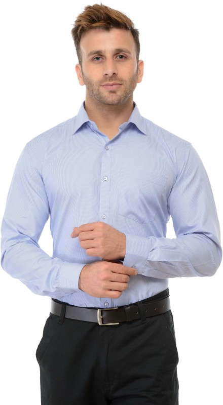 RG Designers Men Checkered Formal Blue Shirt