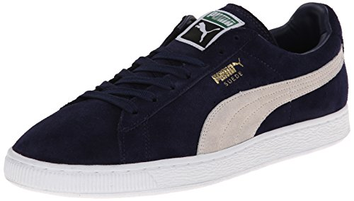 puma mens suede classic sneaker peacoatwhite 7 m us -