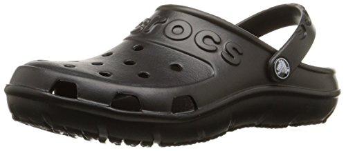 Crocs Unisex Hilo Black Rubber Clogs and Mules – M4W6