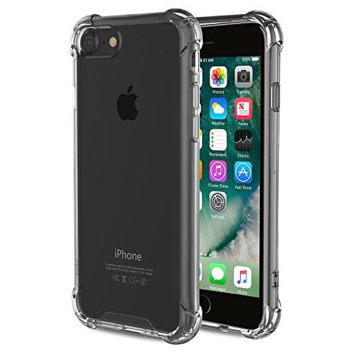 Egotude Shock Proof Hard Back Hybrid Cover Case for Apple iPhone 7 & iPhone 8 – Transparent