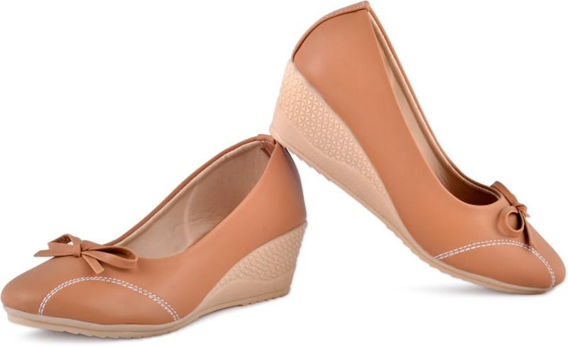PIPILIKA Queen 113.237 Brown Trendy High Heel Wedges Belly Shoe for Women Bellies(Brown)