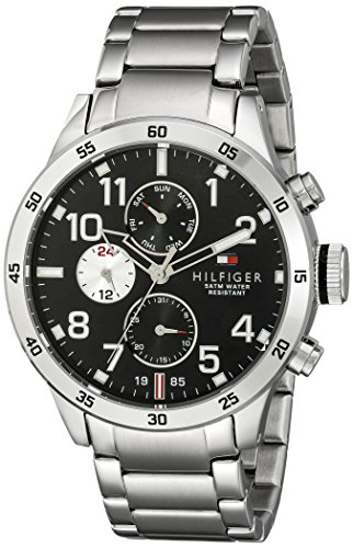 tommy hilfiger th 1791141 trent stainless steel mens watch with chronograph -