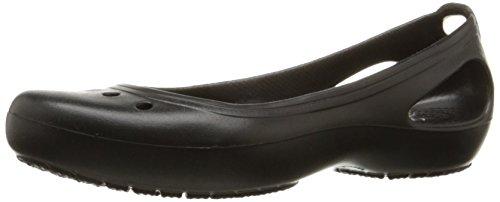 crocs womens kadee black rubber ballet flats w8 -
