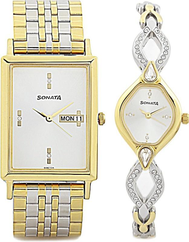 sonata 770038063bm01c watch for couple -