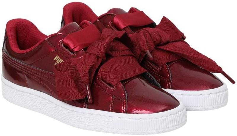 puma girls lace sneakersred -