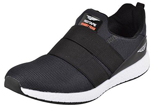 red tape mens black running shoes 10 ukindia 44 eu -