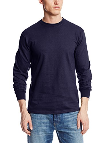 Soffe Men's Men'S Long Sleeve Cotton T-Shirt,Navy,XLG