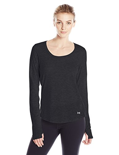 Under Armour Threadborne Streaker Long Sleeve Women's Body Blouse Top (1271534_Black and Reflective_Small)