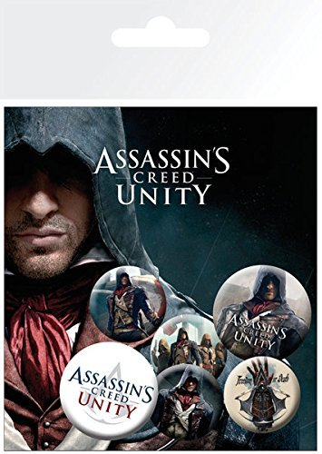 Assassin's Creed: Unity – 6 Piece Button / Pin / Badge Set (Arno