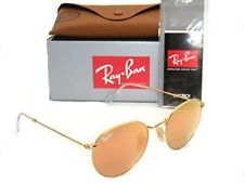 New Authentic Ray-Ban RB 3447 112/Z2 50mm Round Matte Gold / Brown Mirror Pink