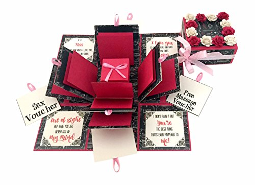 Crack of Dawn Crafts-3 Layered Romantic Explosion Box – Pink Love