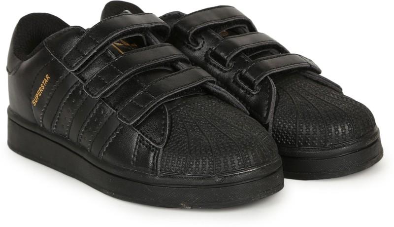 Adidas Boys & Girls Velcro Sneakers(Black)