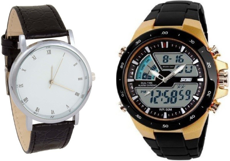 Skmei C 212 LIMITED COMBO SKMEI Dual Time Analog+Digital Watch for Men With Formal Watch Watch  – For Men & Women