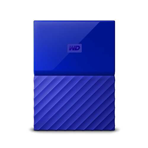 WD My Passport 2TB Portable External Hard Drive (Blue)