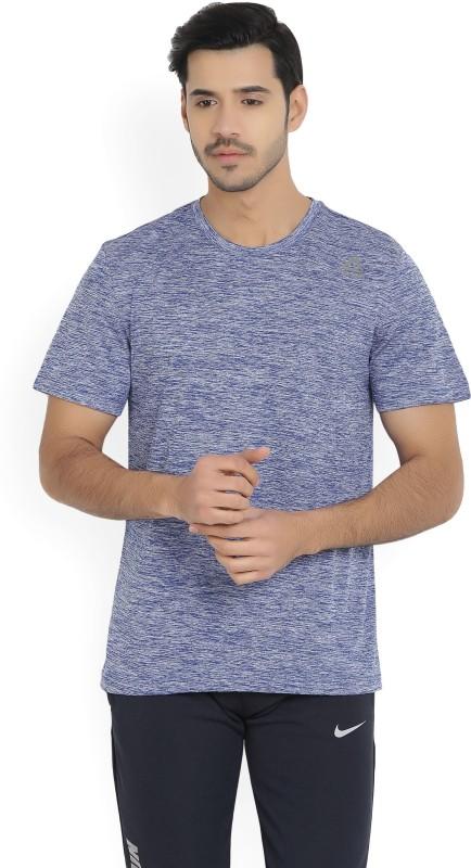 Reebok Solid Men's Round Neck Blue T-Shirt