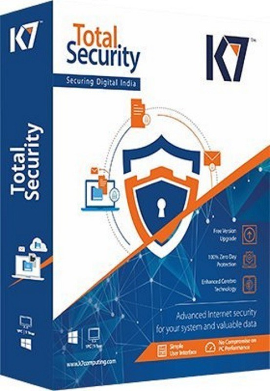 K7 Total Security Antivirus 1 PC 3 Year (One Installation CD)