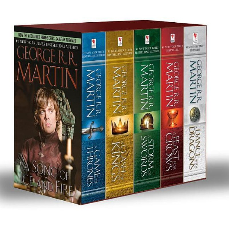 George R. R. Martin's A Game of Thrones 5-Book Boxed Set (Song of Ice and Fire series): A Game of Thrones, A Clash of Kings, A Storm of Swords, A Feast for Crows, and A Dance with Dragons(English, Paperback, George R R Martin)