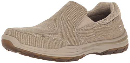Skechers USA Men's Elment Campo Slip-on Loafer, Tan, 10. 5 M US