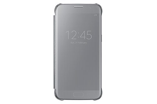 Samsung Galaxy S7 Case S-View Clear Flip Cover – Silver