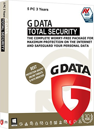 g data total security 5 users 3 years dvd -