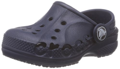 Crocs Kids Unisex Baya Navy Rubber Clogs and Mules – J24