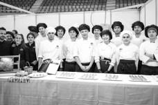 alumnos de la escuela de restauración de Soller Catalina Fede, Guillem y otros