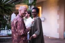 Philippe Salva (Ola-Pr) con la productora franco inglesa Junior Charles