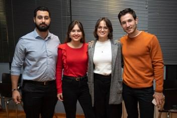 Francisco Javier Lago, Carme Alejandro, Cati Miquel y Toni Fiol