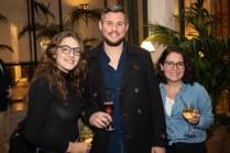 Claudia Sánchez, Juan Miguel Sundin y Laura Robles
