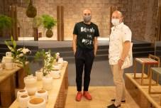 Roberto Paparkone y david Campaner (artista pintor)
