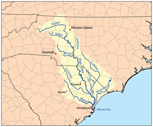 Amazon River Watershed Map