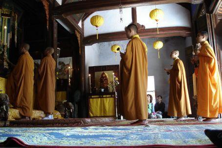 Mahayana Buddhist monks in morning prayer - Hue & the Citadel - Vietnam -  WorldNomads.com