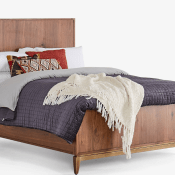 MCM Walnut Bed