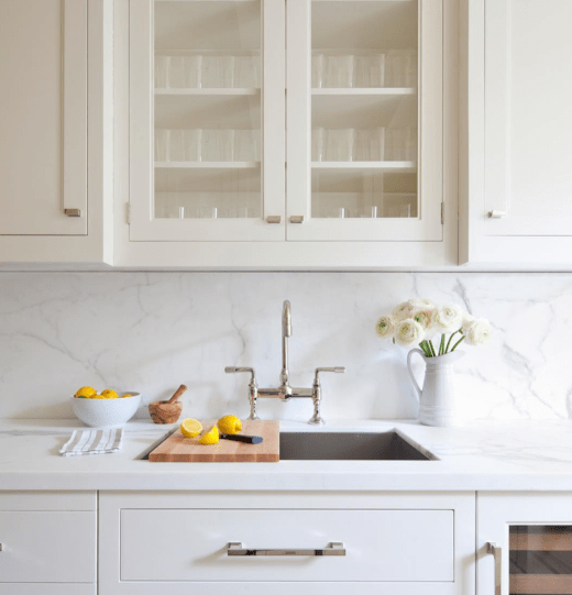 Marble Backsplash by Alyssa Kapito