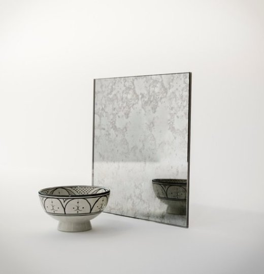 antiqued mirror tile