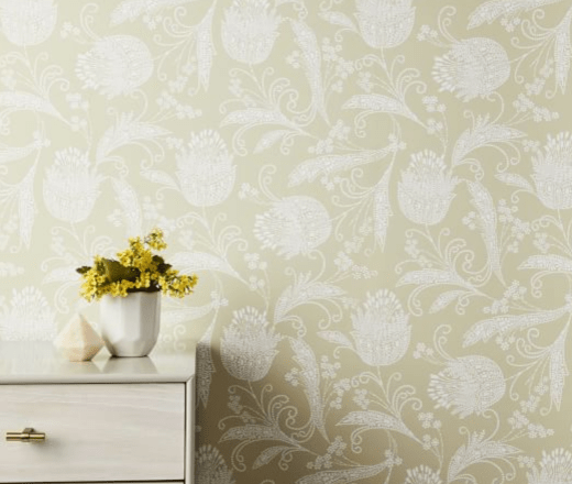 Boho Floral Wall Paper
