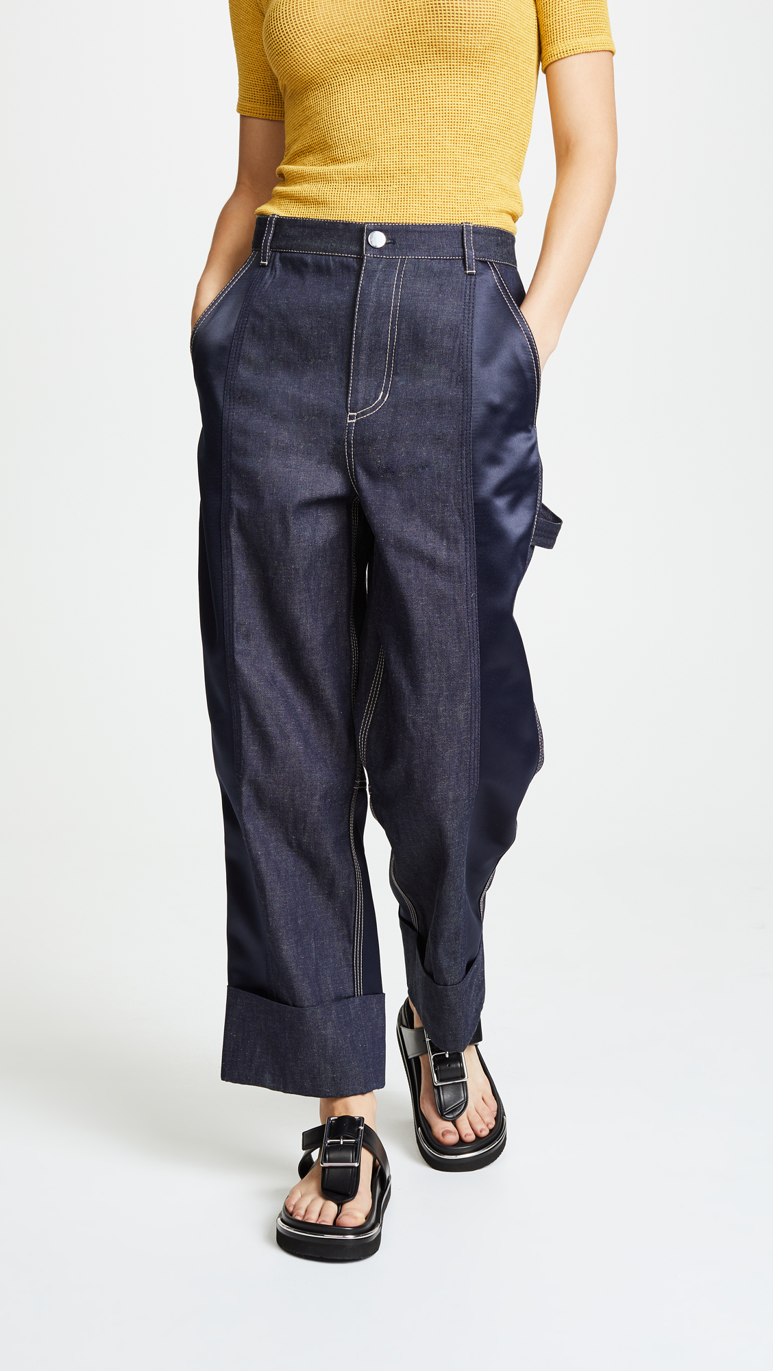 carpenter pants, cargo jeans, utility jeans, utlilty pants, 3.1 phillip lim